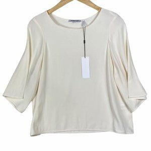NWT Helmut Lang Scooped Neck 3/4 Sleeve Top-M
